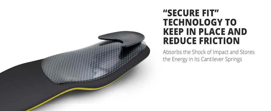 Secure fit technology to keep in place and reduce friction